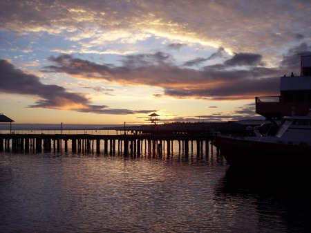 Sunrise at Port Angeles, Washington