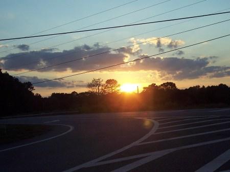 Sunset on Spot Road