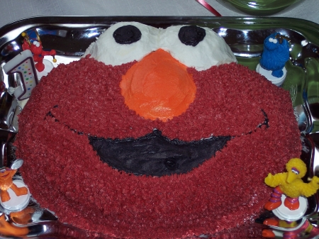 An Elmo Birthday Cake