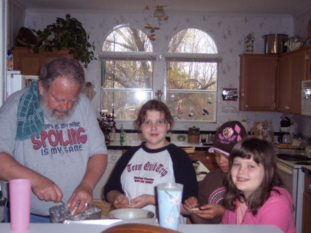 Grandpa and his helpers