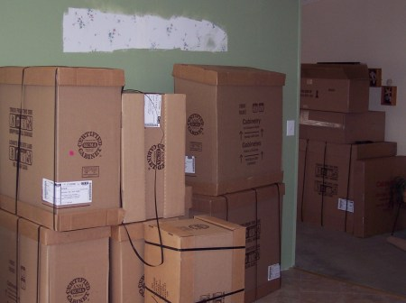 About half of the unopened boxes
