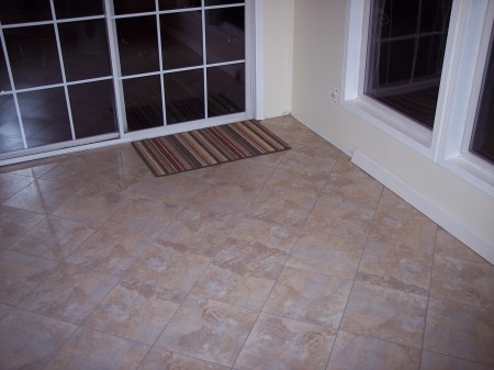 Floor in the Sun Room