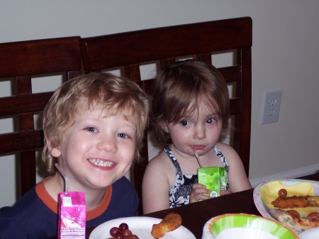 Dominic and Anna sharing the fun