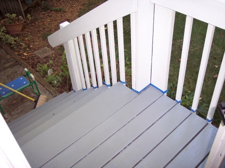 Our freshly painted front porch