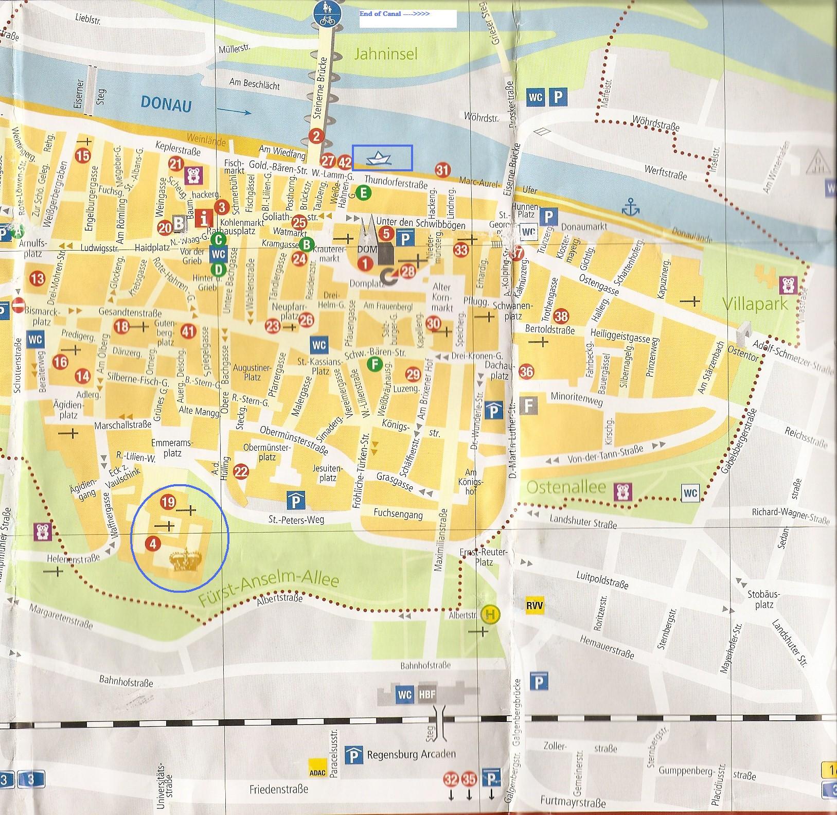 Regensburg Jims Journeys - Regensburg map